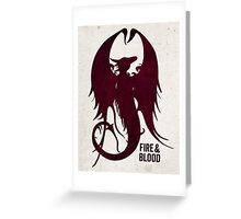 Fire and Blood 2.0 Greeting Card