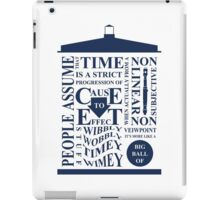Doctor Who Typography iPad Case/Skin