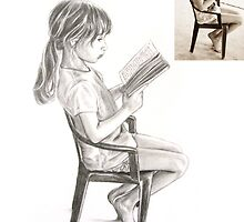 Anna Reading by Laurie Bostian