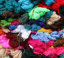 Bundles of Yarn at the Market by rhamm