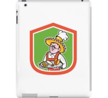 Mexican Chef Cook Shield Cartoon iPad Case/Skin