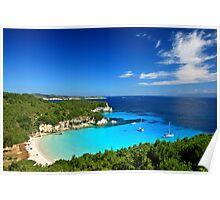 Voutoumi beach - Antipaxos island Poster