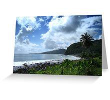Samoan Coastline Greeting Card