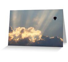 Hot Air Balloon At Sunset Greeting Card