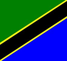 Tanzania Flag by TamiArtGallery