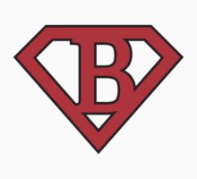 B letter in Superman style by Stock Image Folio
