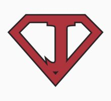 J letter in Superman style by florintenica