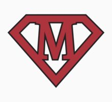 M letter in Superman style by Stock Image Folio