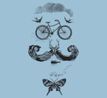vintage bike face - black by KFledderman