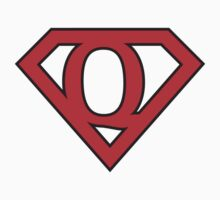 Q letter in Superman style by florintenica