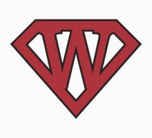 W letter in Superman style by Stock Image Folio