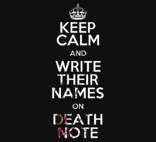 Keep Calm And Write Their Names On Death Note by Pokerus