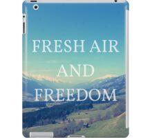 Fresh Air And Freedom iPad Case/Skin