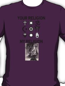 my religion your religion star wars T-Shirt