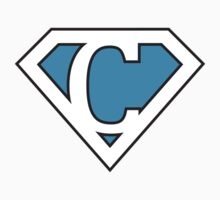 C letter in Superman style by Stock Image Folio