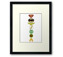 Justice League Logos Framed Print