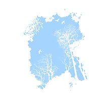 Fresh air expanse, in light blue Photographic Print