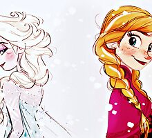 Frozen Elsa and Anna by sophsoph90