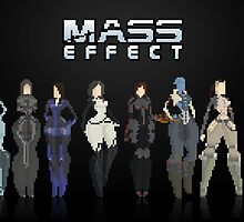 Mass Effect 8Bit Lineup by izaksmells