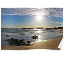 Sun going down at Birubi Beach Poster
