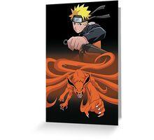 Naruto / Nine tailed fox Greeting Card