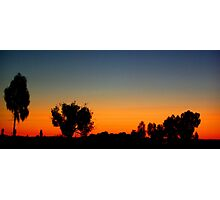 Sunset Central Australia  Photographic Print