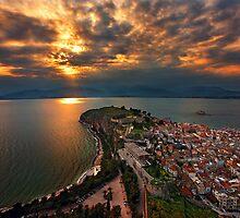Restless skies - Nafplion by Hercules Milas