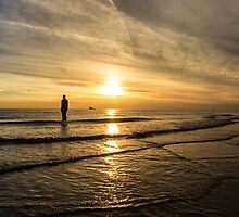 Sunset at Crosby Beach by Paul Madden