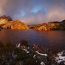 Morning Light on Twisted Lakes - Cradle N.P. Tasmania by Mark Shean