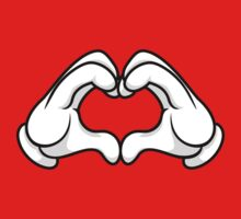 Mickey Hands Heart Love T-Shirt