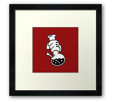 Mickey Hands Bong Framed Print