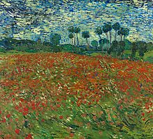 Vincent van Gogh - Poppy field by TamiArtGallery