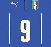 World Cup 2014 - Italy Balotelli Shirt Style by Maximilian San