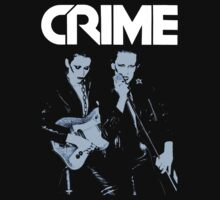 CRIME Punk Rock Murder By Guitar T-Shirt by horrorkid