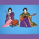 Japanese Serenade Pillow and Tote Bag by Shulie1
