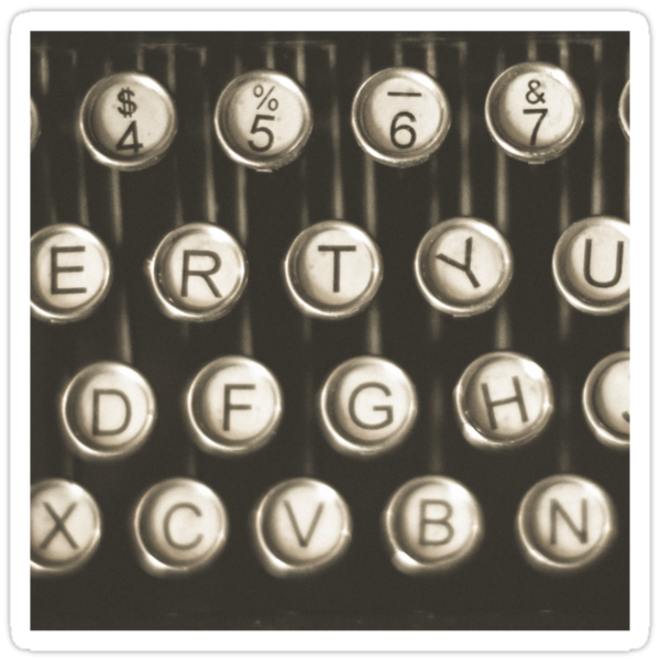 Vintage Typewriter Keys by Maren Misner