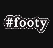 Footy - Hashtag - Black & White by graphix