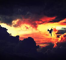 Man of Steel - Stormy Silhouette  by Anna Richardson