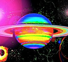 Approaching Saturn From The East by Saundra Myles