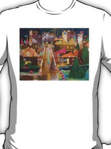 Country Town Collage by Heather Holland T-Shirt