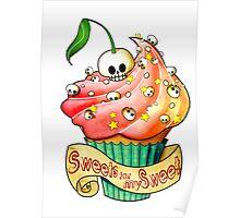 Sweet Skull Cupcake Poster