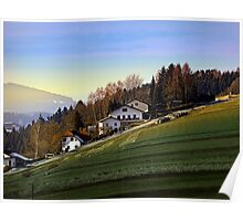 Village houses on the hill | landscape photography Poster