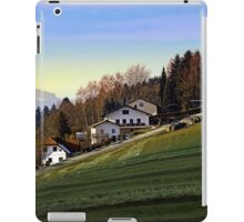 Village houses on the hill | landscape photography iPad Case/Skin