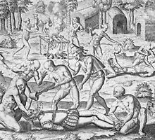 Massacre of Christian missionaries near Cumana, Venezuela by Bridgeman Art Library