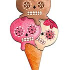 Sugar Skull Ice Cream Cone by colonelle