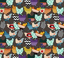 Cincinnati Chickens by Sharon Turner