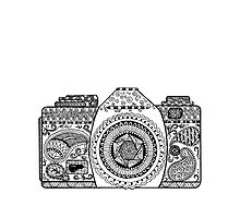 Camera Doodle Tote Bag by DanaElyse