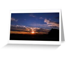 Amber and Blue Sky Greeting Card