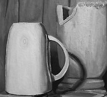 Still Life Study / Grisaille Painting by Aaron McDermott
