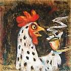 Rooster Pillow and Tote by Cindy Schnackel